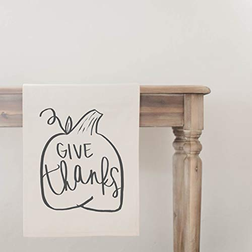 Give Thanks Pumpkin Table Runner, home decor, present, housewarming gift, seasonal decor, tableware, Thanksgiving table, fall decor