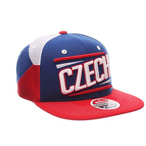 Zephyr Country Flag Soccer Victory Snapback Cap - Flat Bill, Adjustable Baseball Hat (Czech Republic)
