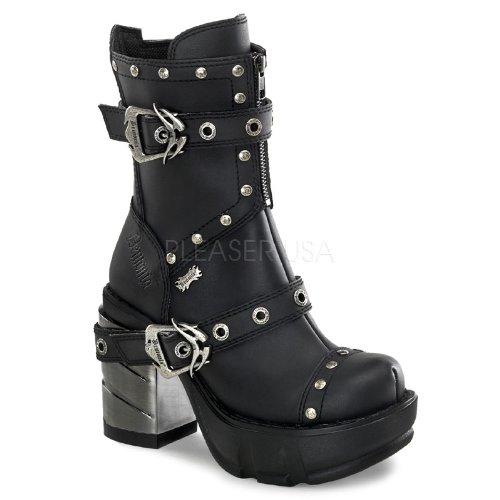 (Pleaser Women's Sinister 201 B Ankle Boot,Black Polyurethane,8 M)