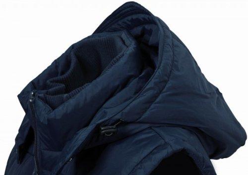 Modische Herren-Steppweste schwarz XL
