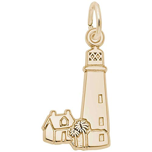 (Rembrandt Charms Lighthouse, Cape Florida Charm, 10K Yellow Gold)