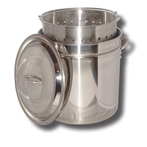 (King Kooker KK36SR Ridged Stainless Steel Pot, 36-Quart)