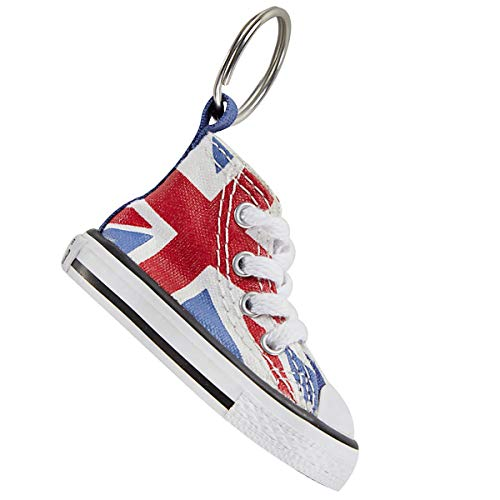 Converse Key Chain All Star Chuck Taylor Sneaker Keychain Authentic (British Flag) ()