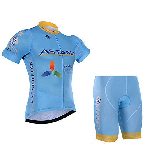 (Men's Cycling Jersey Set Bike Jersey Bicycle Summer Breathability Short Sleeve Suit C105 (B, L))