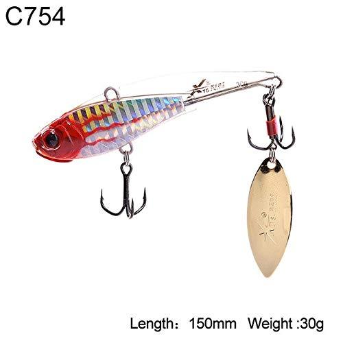 HATCHMATIC Uni Pêche Dur Lure 5 Tailles Sinking VIB Wobblers Souple Body Design avec Tour de Batte oon Aftificial Decoy Modèle 3520B: 150mm 30g C754