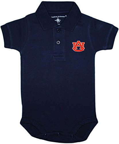 University of Auburn Tigers Newborn Polo Bodysuit