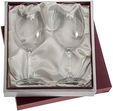 El Faro Copas de Vino Personalizadas Cristal de Bohemia en Estuche 590 ml
