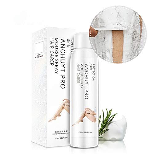 Spray Foam Hair Removal Women Men No Damage No Pain Spray Away Depilatory Foaming Cream Mousse Spray Hair Removal Cream Facial Body Underarms Legs Bikini Area Skin (White)