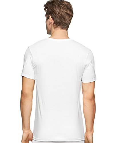 Calvin Klein Men's Undershirts Cotton Classics 3 Pack Slim Fit Crew Neck Tshirts, White, Medium