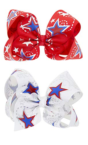 4th Of July Accessories - Girl Hair Clip Hair Bows Boutique