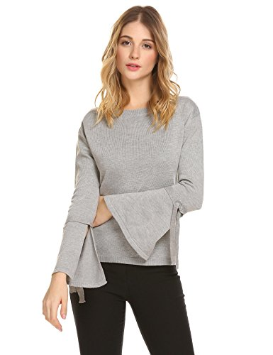 Bow Sleeve Sweater - 6