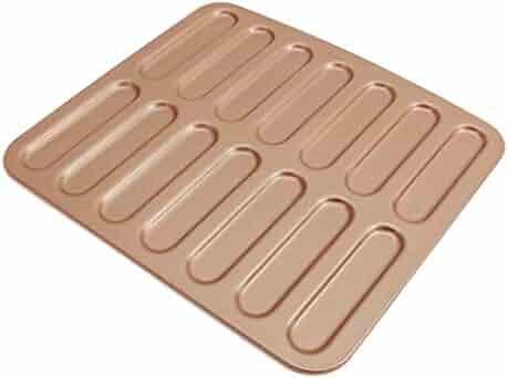 Blesiya Home Hostel Gold Carbon Steel NonStick Eclair Bread Baking Tray Bakeware