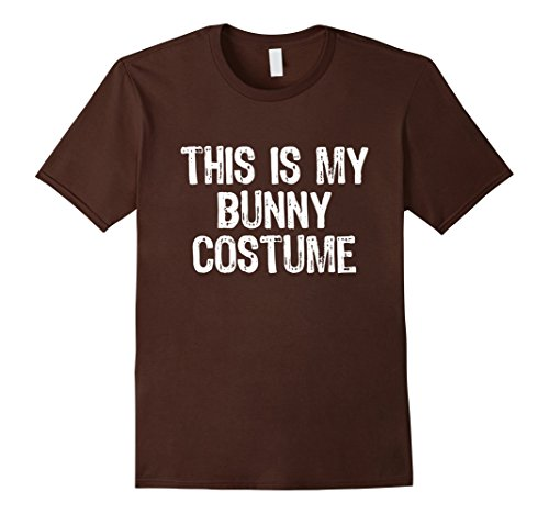 [Mens This Is My Bunny Costume Halloween T-Shirt XL Brown] (Bunny Costume Diy)