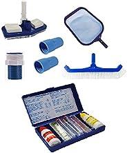 Kit De Limpeza Compact Para Piscinas + Estojo De Teste PH/CLORO