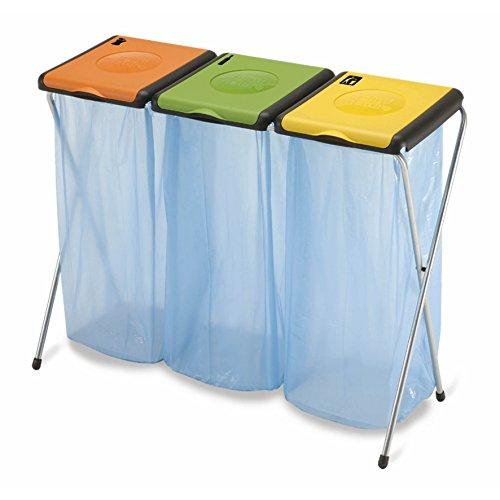 Dreifacher Müllsackständer für 3x 120 Liter Gelber Sack Mülleimer Müllsackhalter