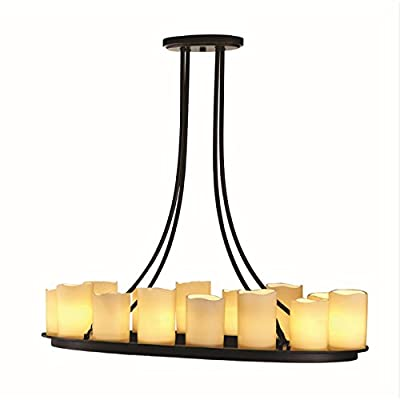 Allen + Roth 14 Light Oil-rubbed Bronze Chandelier Traditional Home Bedroom Dining Living Room Kitchen Lighting Ceiling Fixture