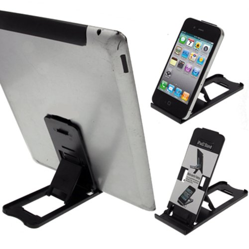 LUPO Tablet iPad Stand Holder - Universal Mobile Phone Mini Folding Cradle - Compatible with all Tablets, iPad's, iPhone's Samsung Galaxy HTC Nokia Sony Ericsson Smartphones (Sony Htc Ericsson)