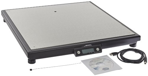 "Fairbanks Scales 31081 Ultegra Max R9050 Series Flat Top Parcel Shipping Scale, 21"" Length, 21"" Width, 2-1/2 Height, 250 lbs Capacity, 0.05 lbs Readability"