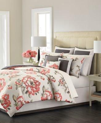 Martha Stewart Collection Peony Blossom 9-Piece King Comforter Set (Peony Set Comforter)
