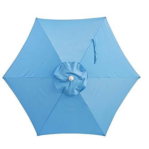 Hampton Bay 7-1/2 ft. Steel Patio Umbrella Periwinkle