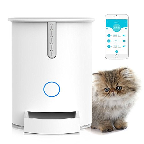 ARTDOU Automatic Pet Feeder, Programmable Smart Food Dispenser for Cats and Small Dogs, Wi-Fi Portion Control Feeder, Compatible with iOS and Android by ARTDOU