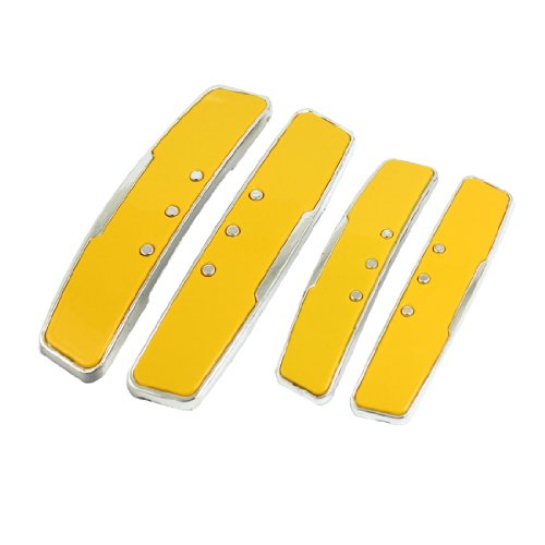 uxcell a13042500ux0053 4PCS Plastic Beads Decor Auto Car Door Bumper Guard Stickers Bar Yellow, 4 Pack