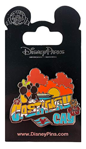 Apparel Castaway - WDW Trading Pin - DCL - Castaway Cay Sunset with Mickey & Minnie