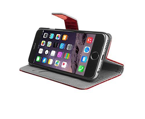 Aiino Crocco Schutzhülle Handyhülle Cover Case für Apple iPhone 6 Plus - Rot