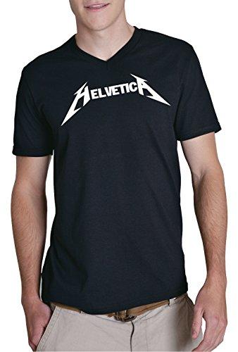 Helvetica Metal V-Neck Black Certified Freak