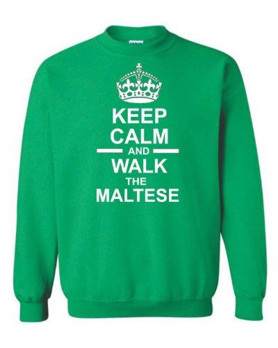Verde Calm Unisex Keep The Felpa Maltese To Back amp; Dog Sweatshirts Future Walk C77qpf