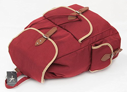 .:.NEUHEIT.:. Vintage Rucksack Bordeauxrot PRIMARK ATMOSPHERE .:.NEUHEIT.:.