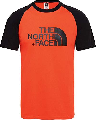 T Facile North Fiery Face Herren The shirt Raglan Rouge pw7xCEEqn