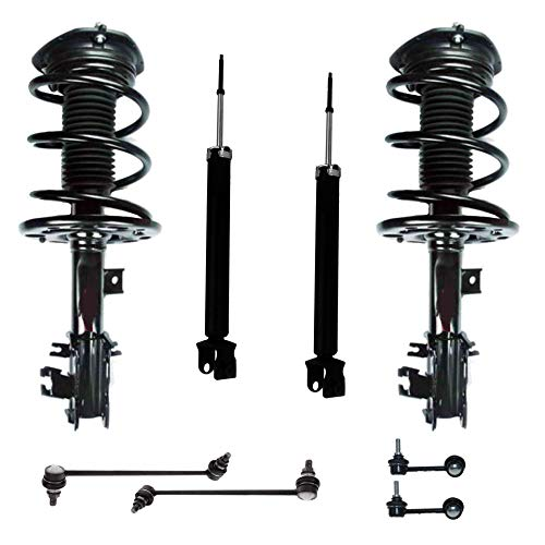 Detroit Axle - 8PC Front Strut & Coil Spring, Rear Shock Absorber w/Sway Bar Link Kit for 2009 2010 2011 2012 2013 2014 Nissan Maxima Sedan ()