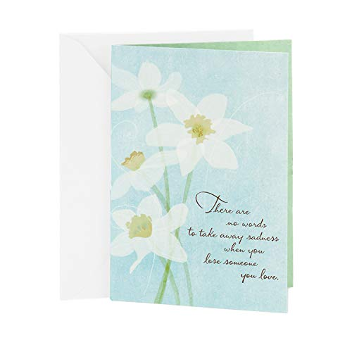 Hallmark Sympathy Card (White Flowers)