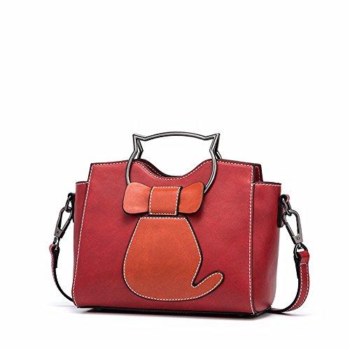 2018 una nuova borsa, moda solo una borsa sulla spalla,gules Gules