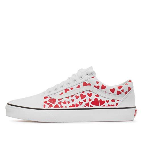 Vans-Womens-Old-Skool-Valentines-Hearts-True-WhiteRacing-Red-Skate-Shoe-True-WhiteRacing-Red