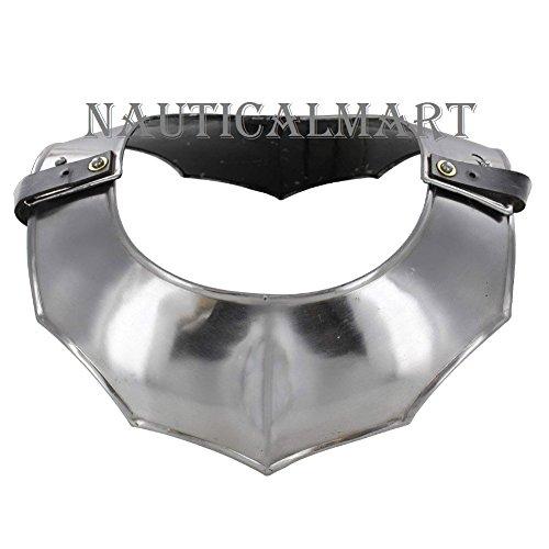 Medieval 18 Gauge Steel Plate Armor Gorget Neck Protector By Nauticalmart by NAUTICALMART