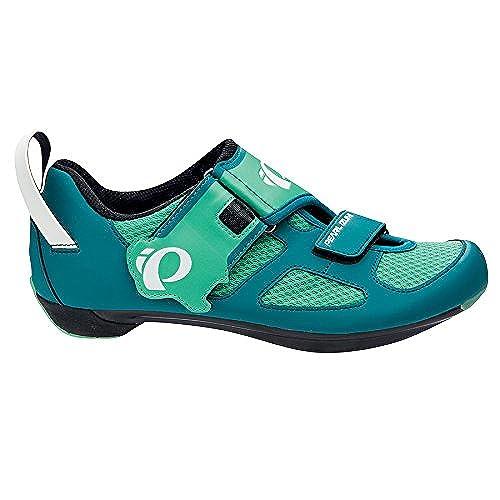 Pearl Izumi Women's W Tri Fly V Dl/g Tri Cycling Shoe, Deep Lake/Gumdrop,  38 EU/6.8 B US