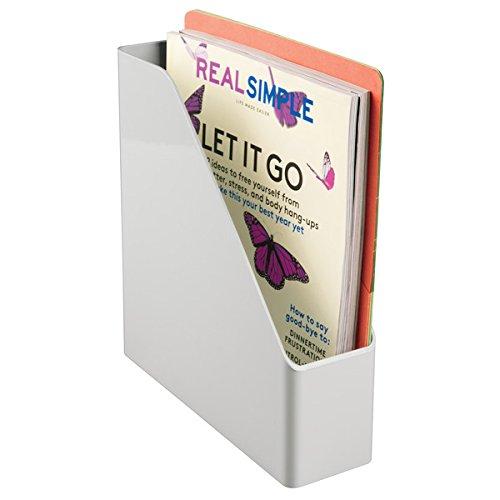 mDesign Bandeja de escritorio de plástico - Organizador de oficina con 5 compartimentos pequeños y 1 grande - Organizador de papeles para oficina y ...