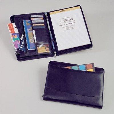 Cowhide Nappa Leather Portfolio in Black by Winn