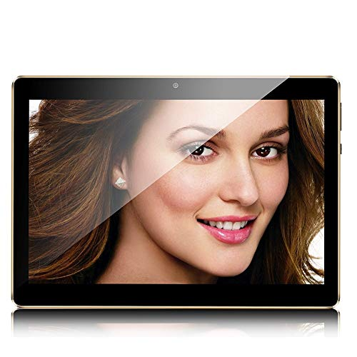 Android Tablet 10 Inch Sim Card Slots 10.1″ 4GB RAM 64GB ROM 3G Unlocked GSM Phone Tablet PC WiFi Bluetooth GPS (Black)