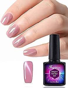 Frenshion 10ml Magnetic Cat Eye Gel Polish 3D Gel Nail Polish Soak Off UV LED Milk Pink Purple Pearl Color Nail Art 051