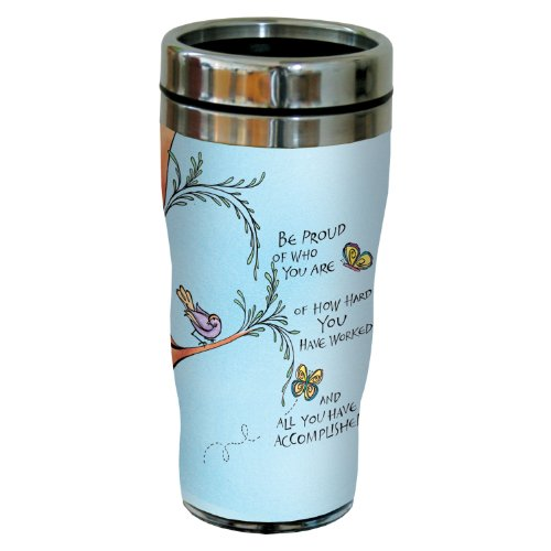 Tree-Free Greetings sg23951 Be Proud by Joanne Fink Sip 'N Go Stainless Steel Lined Travel Tumbler, 16-Ounce