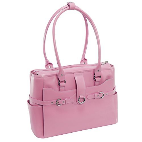 McKlein Willow Springs Leather 15.4'' Laptop Tote - Pink by Mcklein