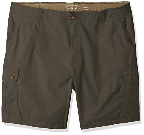 (G.H. Bass & Co. Men's Big and Tall Ripstop Stretch Cargo Short, Army dust, 46)