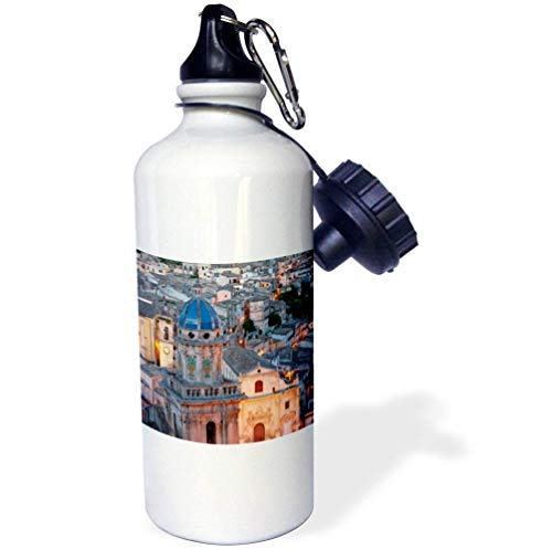 Yohoba Danita Delimont Italy Town Of Ragusa Sicily Italy Sports Water Bottle by Yohoba