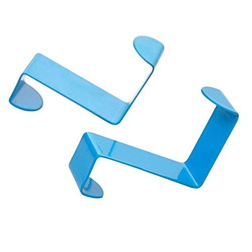 Clode® 2 teilige Edelstahl Türhaken Kleiderhaken Badezimmerhaken(Blau) Clode®
