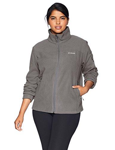 Columbia Women's Plus Size Fast Trek II Full Zip Fleece Jacket, Charcoal, - Zip Charcoal Jacket