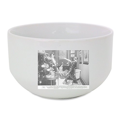 [Ceramic bowl with Brigitte Bardot in costume, having good time with man.] (Best Costume Award Printable)