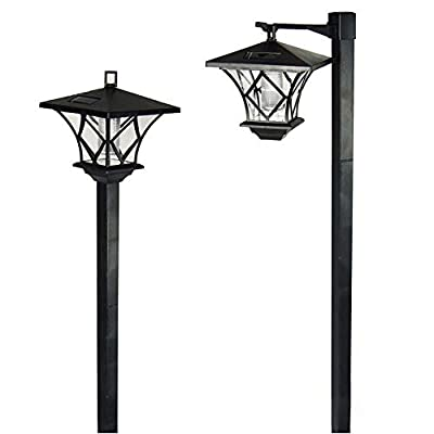 per Newly Solar Lights Outdoor,Solar Powered Path Lights Waterproof Garden Lights Landscape Lighting for Lawn/Patio/Yard/Pathway/Walkway/Driveway